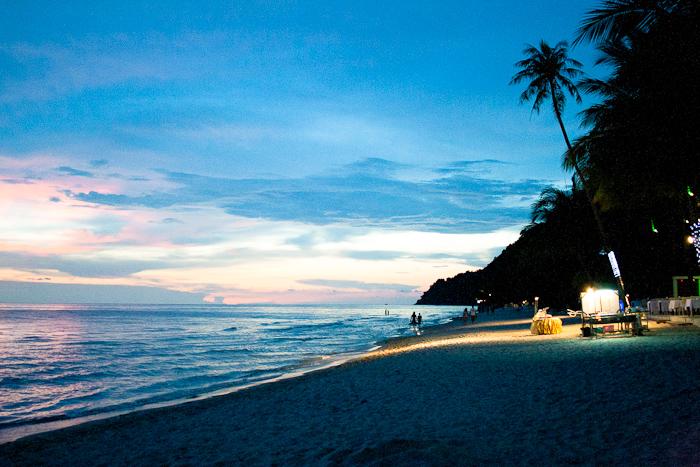Остров Чанг: White sand Beach на закате