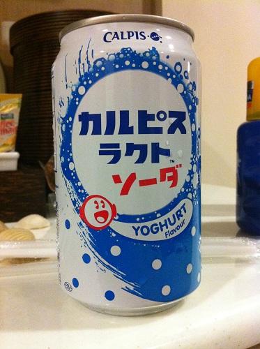 Подборка забавных азиатских продуктов: газировка со вкусом йогута