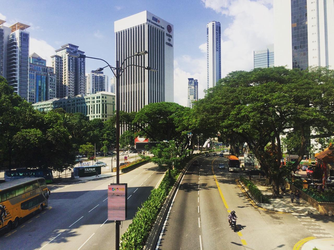 Путешествие по Малайзии, Куала-Лумпур: Золотой треугольник — деловой центр Куала-Лумпура