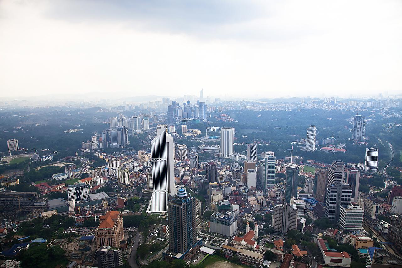 Путешествие по Малайзии: Вид на Куала-Лумпур