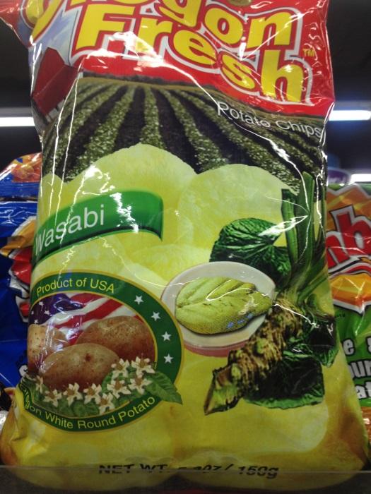 Подборка забавных азиатских продуктов: чипсы с васаби