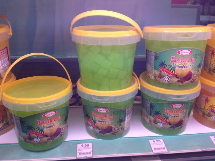 Подборка забавных азиатских продуктов: кусочки кокоса