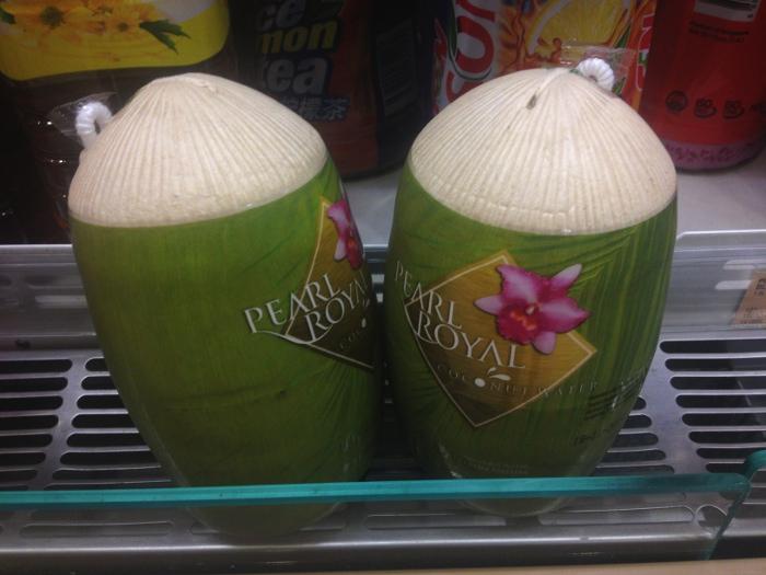Подборка забавных азиатских продуктов: Сок молодого кокоса, Сингапур