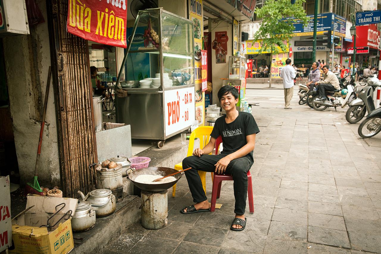 Путешествие по Вьетнаму, Ханой: Уличная кухня