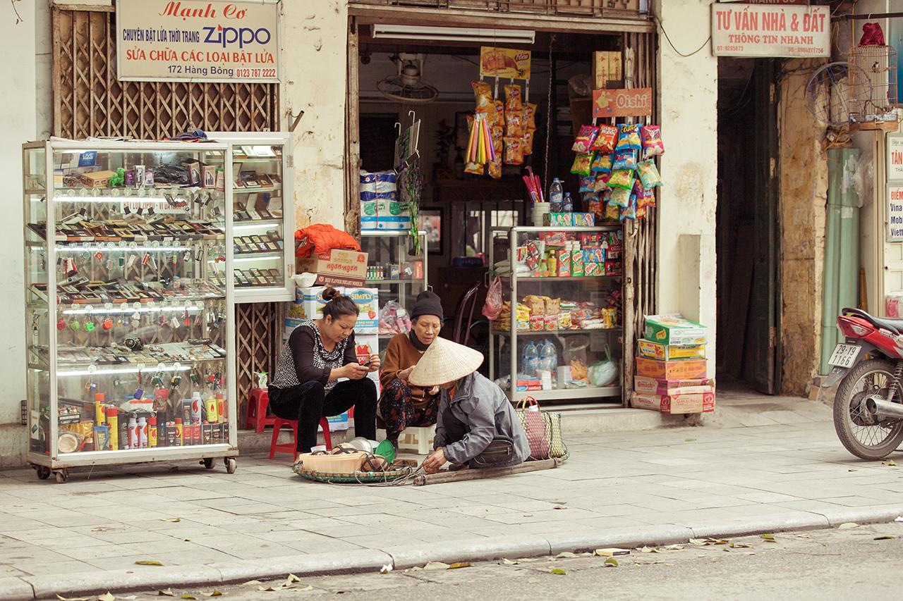 Путешествие по Вьетнаму, Ханой: Уличные магазинчики