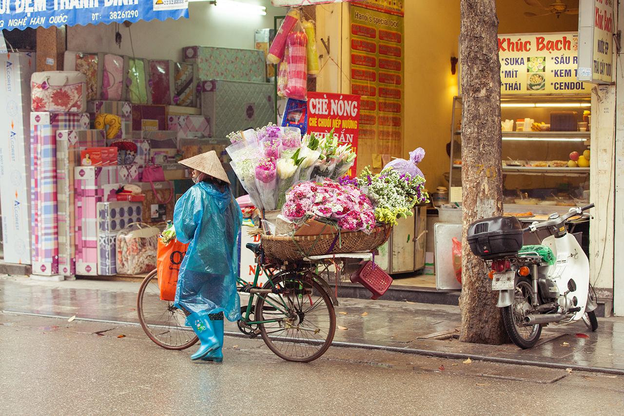 Путешествие по Вьетнаму, Ханой: Продавец цветов