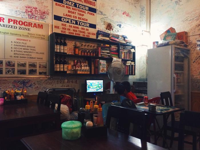 Город Хюэ, Вьетнам: семейное кафе