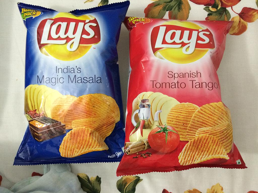 Подборка забавных азиатских продуктов: Лейс со вкусами индийских специй и испанского томатного соуса