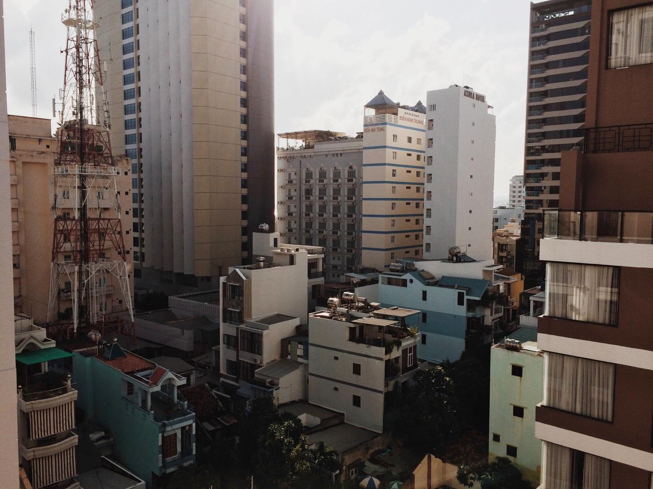 Вид с крыши отеля, Начанг
