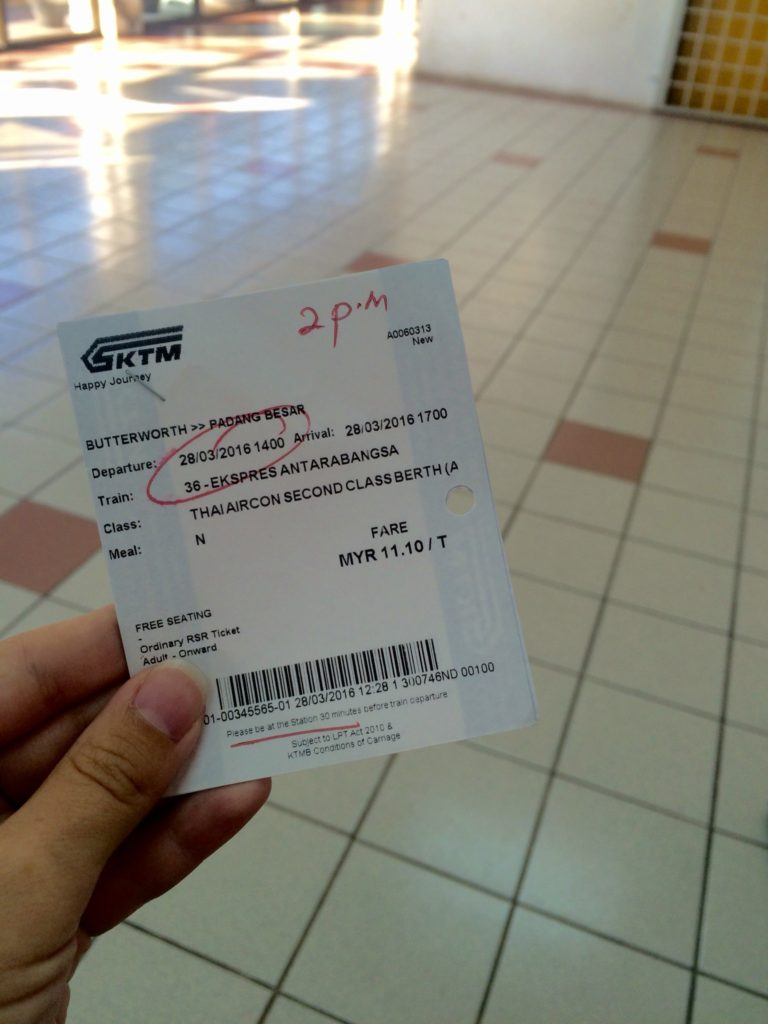 Из Малайзии в Таиланд: Билет до Паданг Бесара