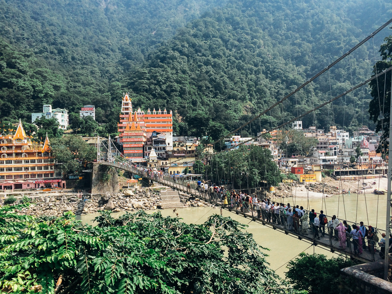 Путешествие по Индии: Мост Lakshman Jhula