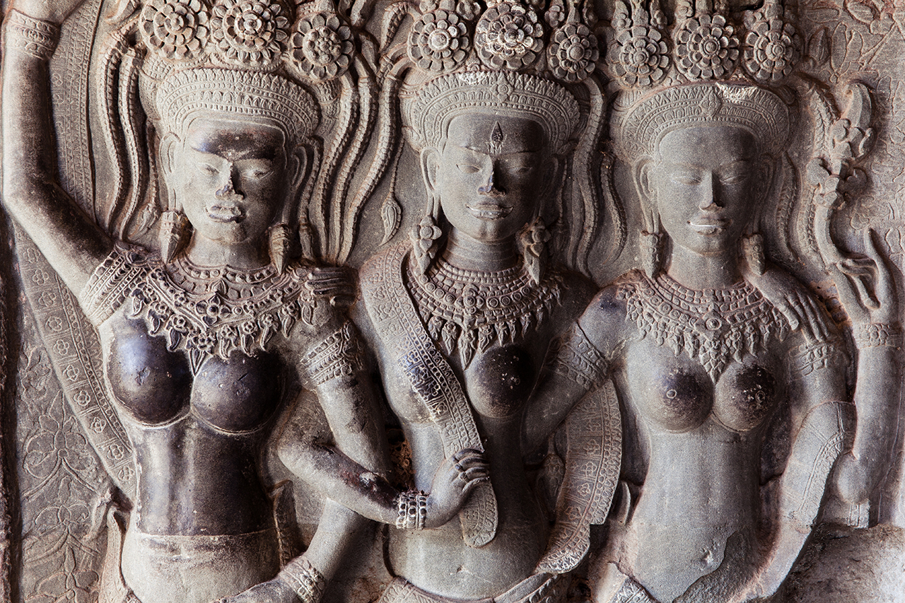 Путешествие по Камбодже: Барельеф на стене Ангкор-Ват