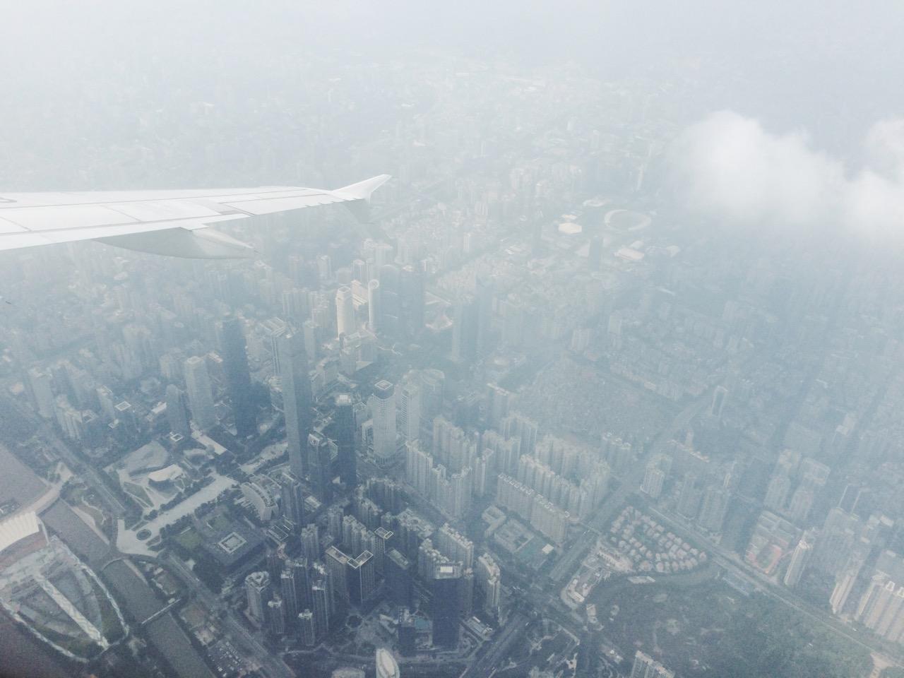 Безвизовый транзит в Гуанчжоу: В небе над Гуанчжоу