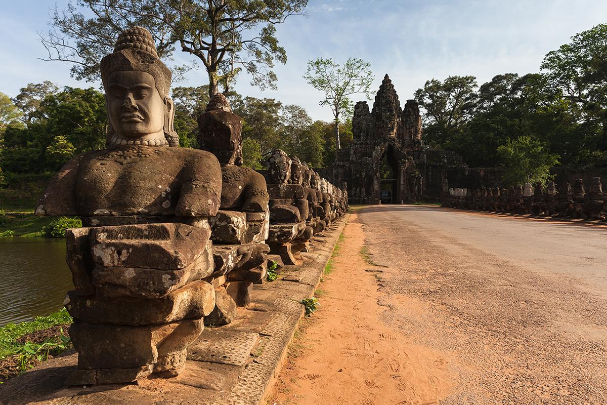Путешествие по Камбодже: Ворота Ангкор-Тхом
