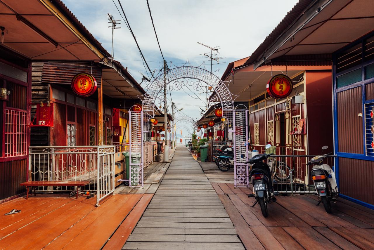 Как добраться до Пенанга: Деревня на сваях, Джорджтаун, Пенанг
