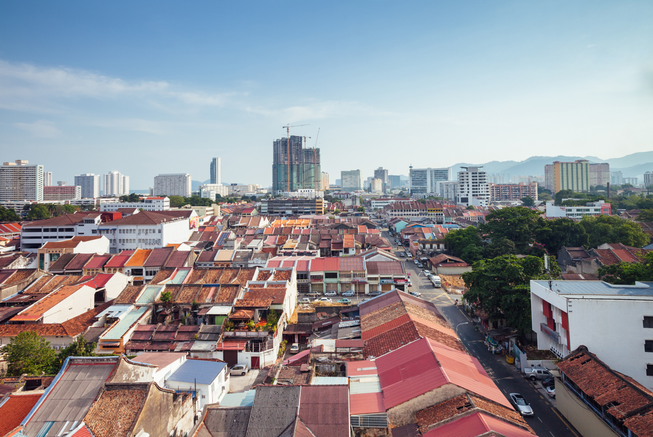 Вид на Джорджтаун, Пенанг, Малайзия