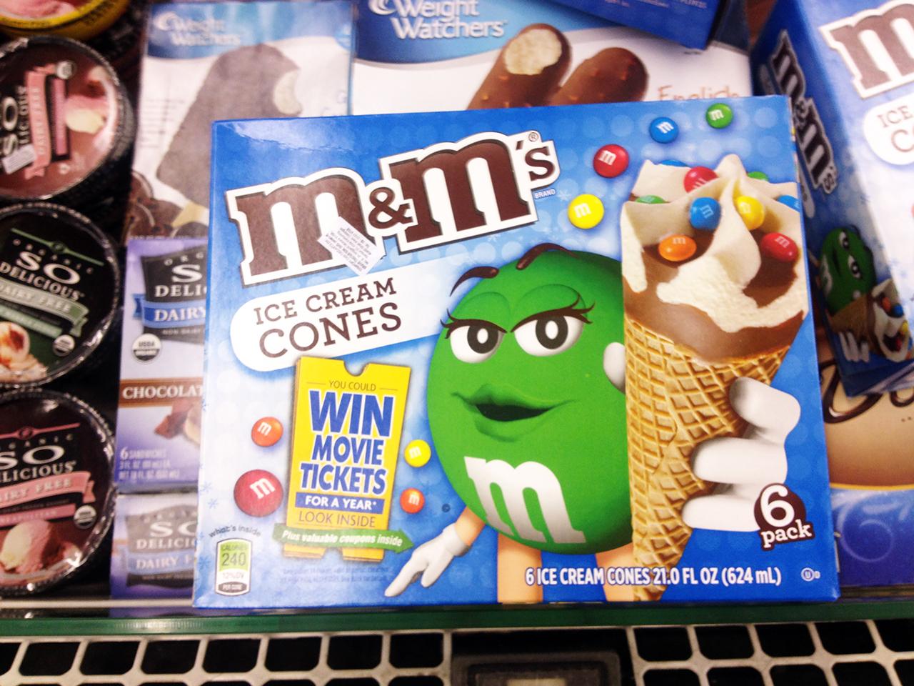 Подборка забавных азиатских продуктов: мороженое М&М's