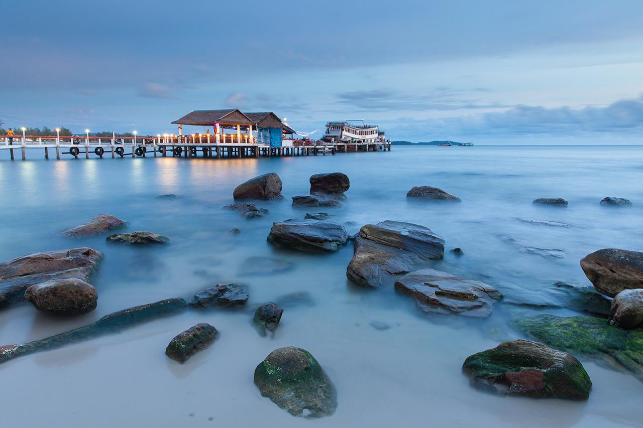 Путешествие по Камбодже: Пляж в Сиануквиле