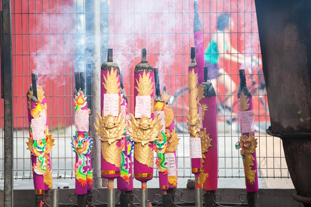 Джорджтаун, Пенанг: Сжигание благовоний в таоистском храме