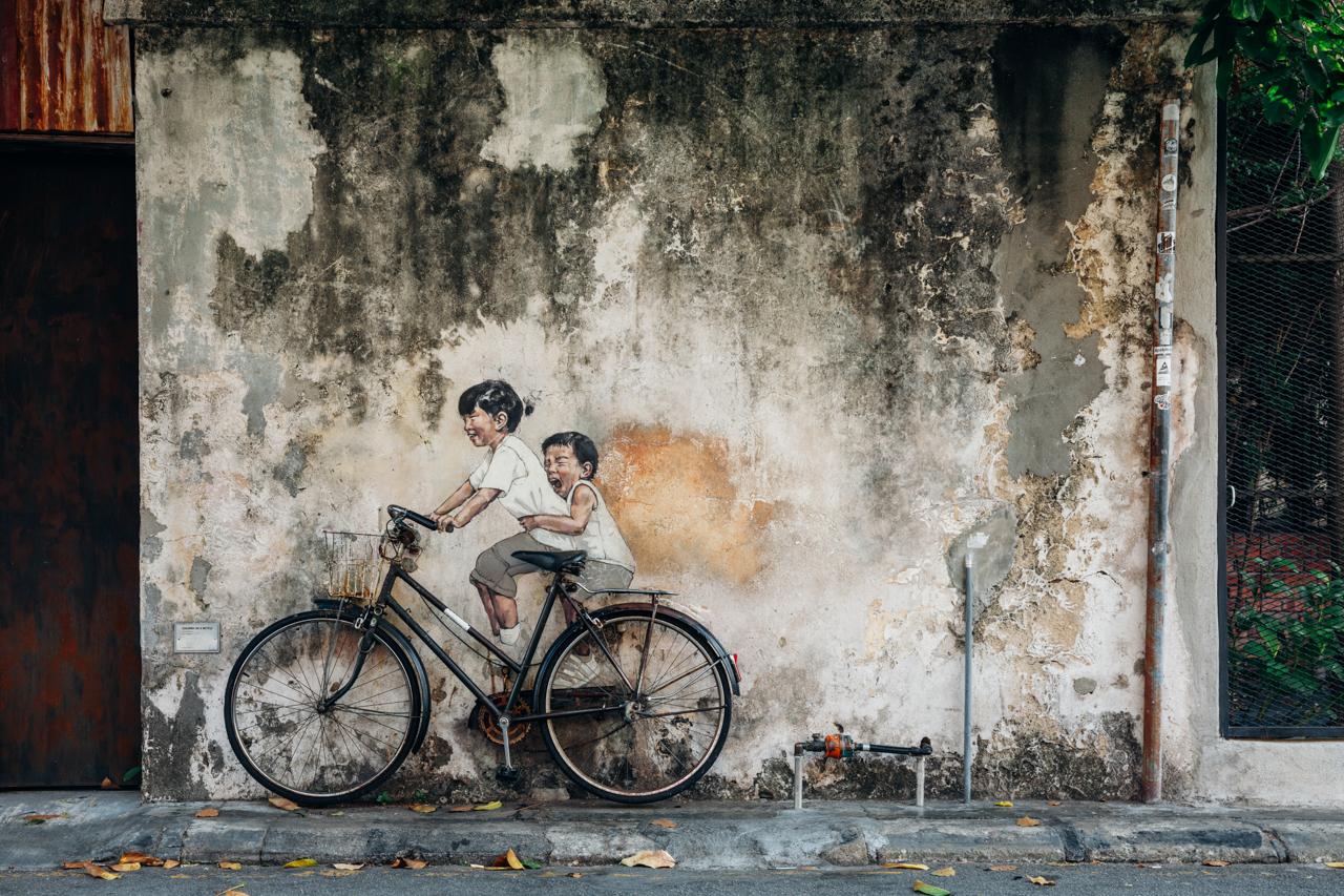 Джорджтаун, Пенанг: Знаменитый стрит-арт