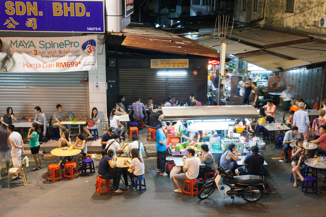 Джорджтаун, Пенанг: Вечерний рынок на Lebuh Chulia