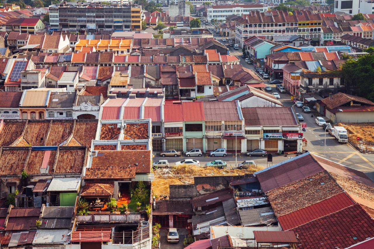 Джорджтаун, Пенанг: Вид на старый город