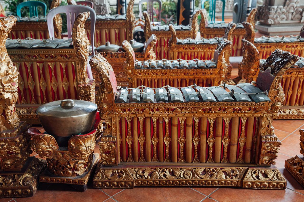Традиционные музыкальные инструменты для исполнения музыки Гамелан, Бали