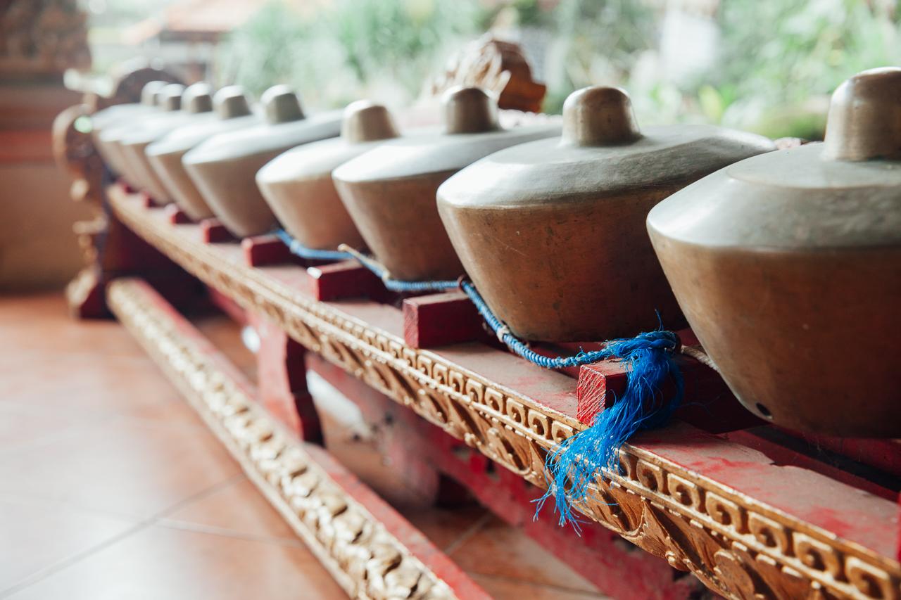 Традиционные музыкальные инструменты для исполнения музыки Гамелан, Убуд, Бали