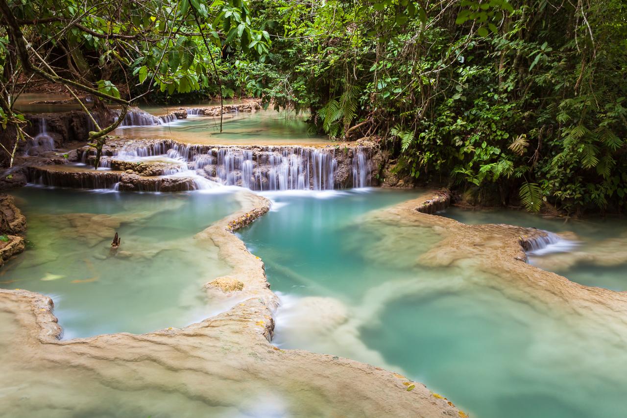 Путешествие по Лаосу: водопады Куанг Си