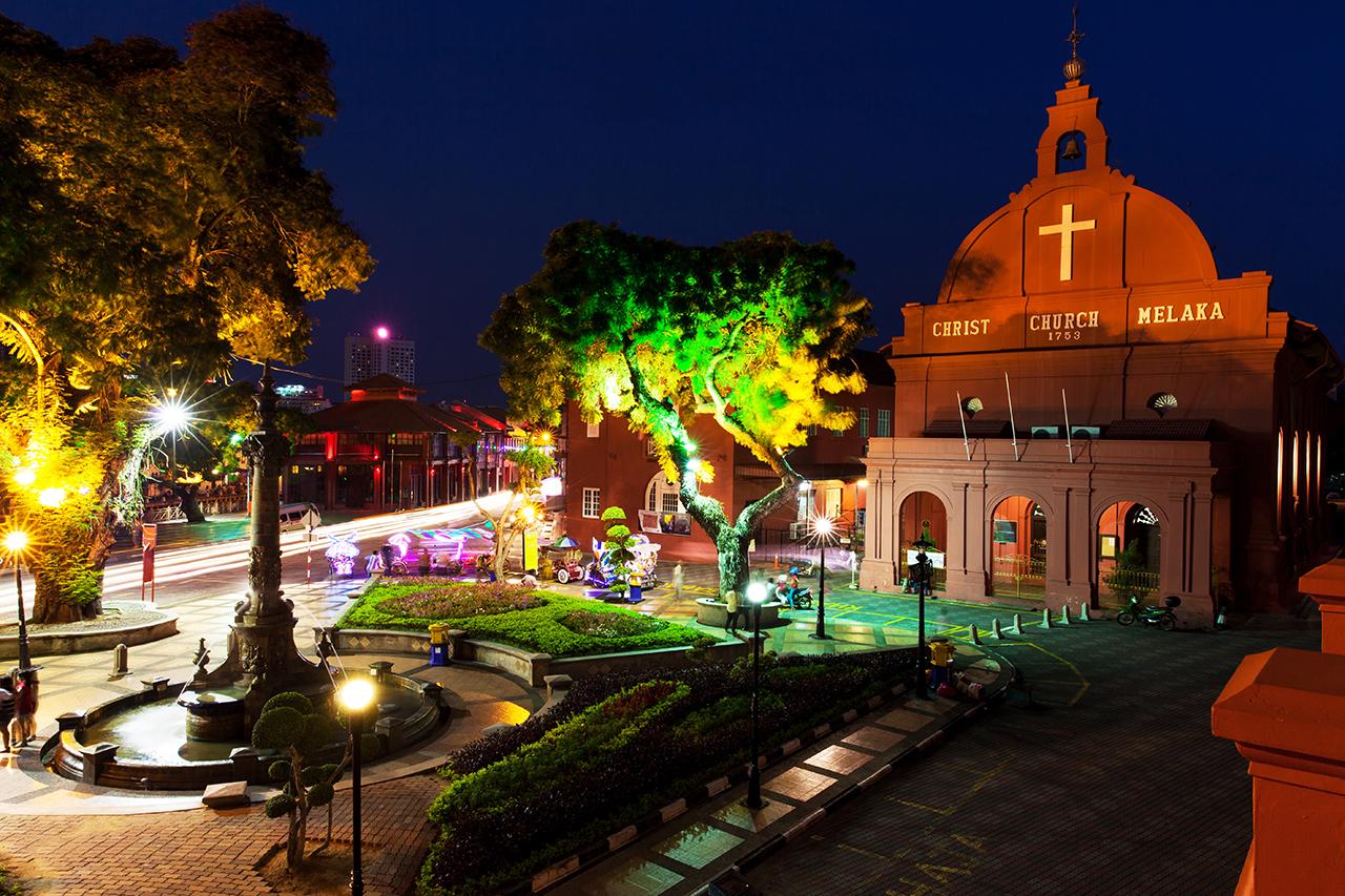 Голландская площадь (Dutch Square), Малакка, Малайзия