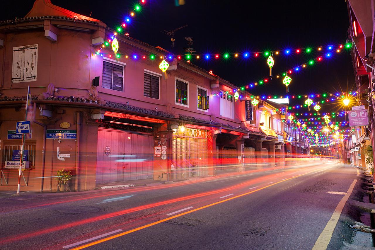 Улица, примыкающая к Голландской площади, Малакка, Малайзия