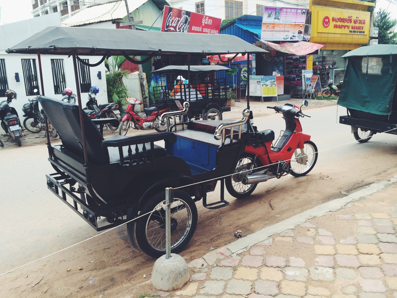 Путешествие по Камбодже: Камбоджийский моторикша