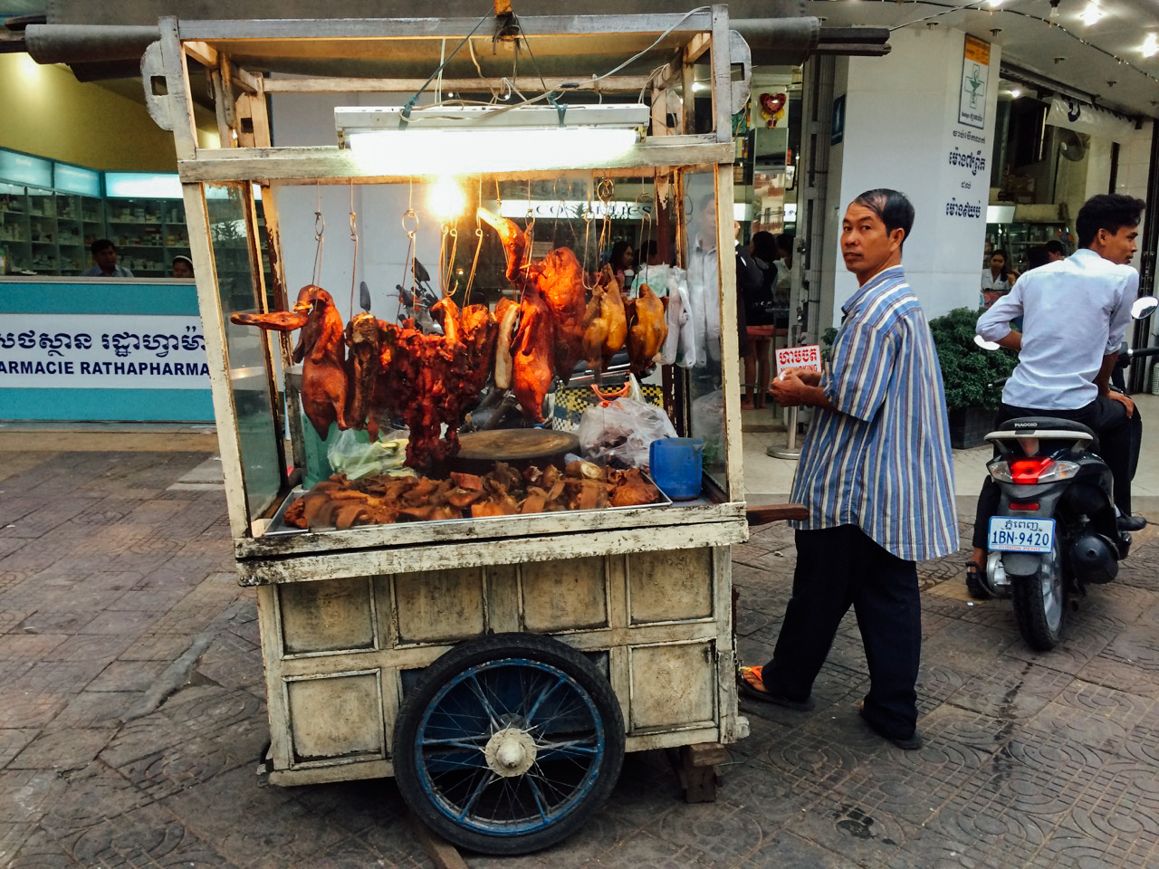 Путешествие по Камбодже: Уличный торговец