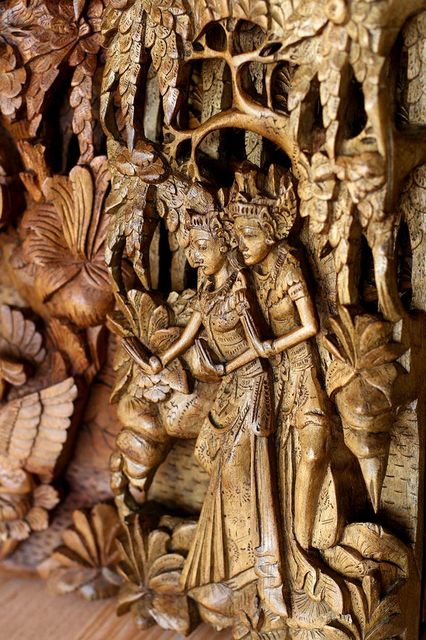 Искусная объемная резьба по дереву, Бали