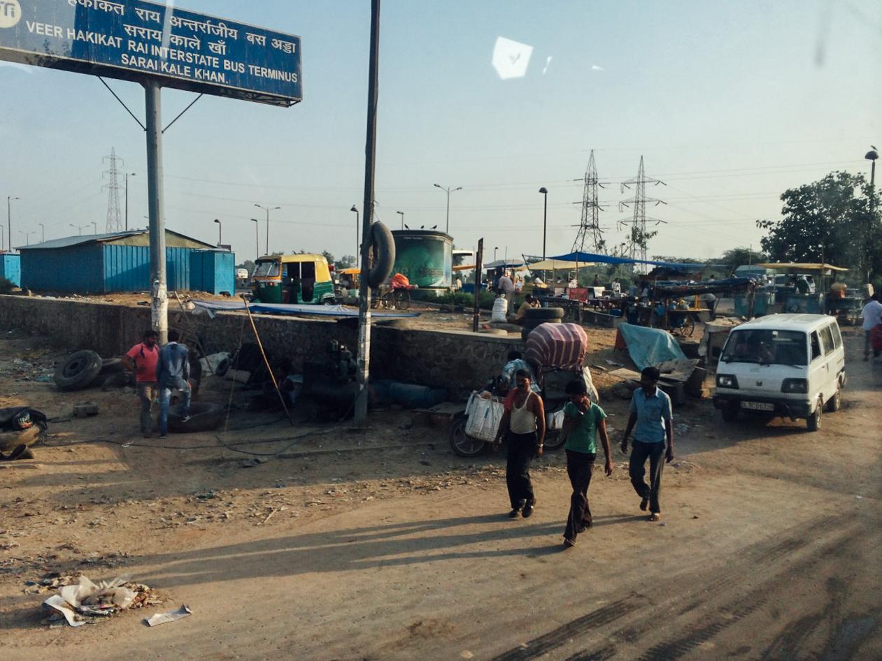 Путешествие по Индии: Указатель на терминал Veer Hakikat Rai ISBT