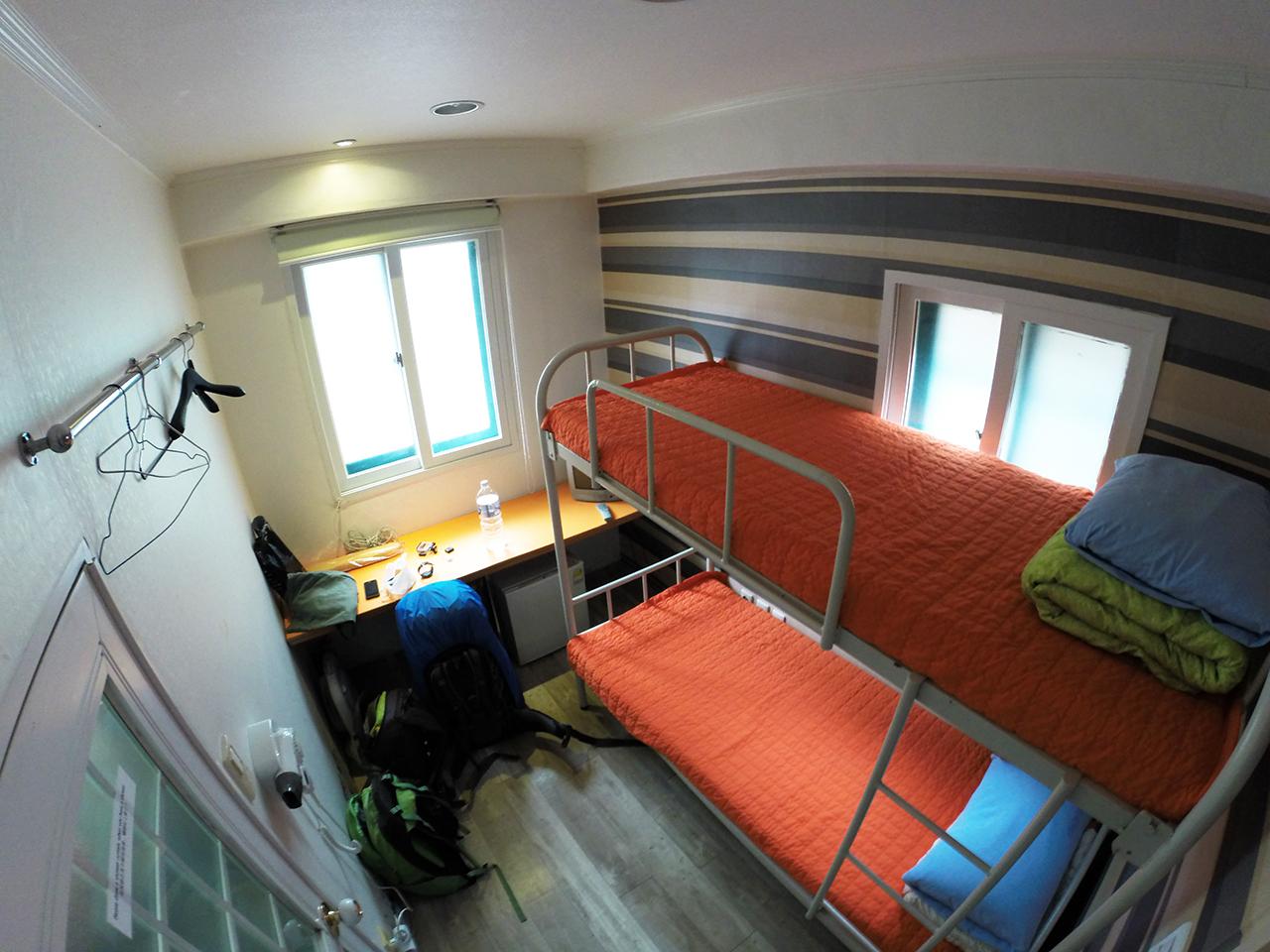 Путешествие по Южной Корее, Сеул: Номер в Hostel Korea Original
