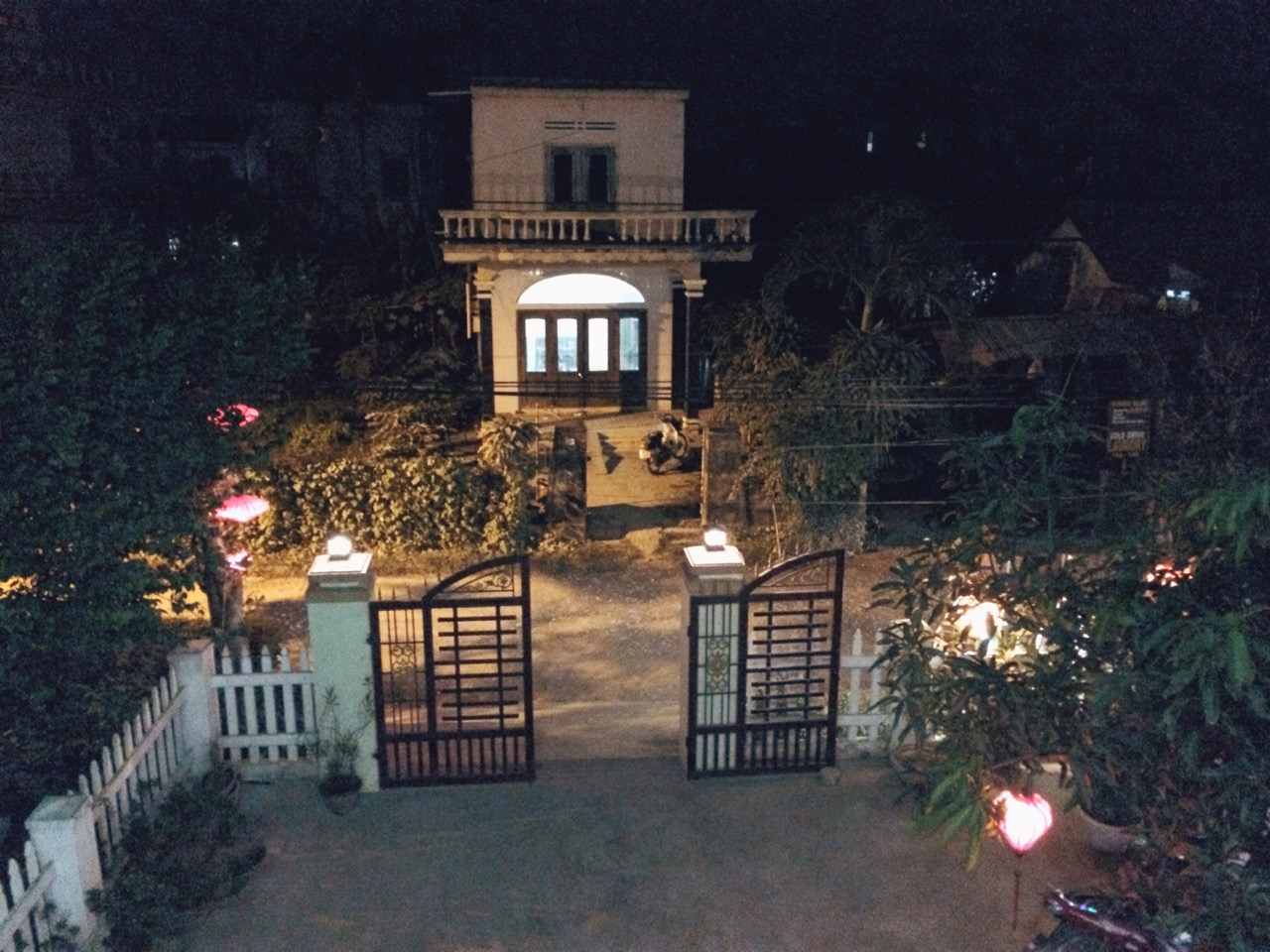 Путешествие по Вьетнаму: Вид с балкона, хоумстей в Хойане