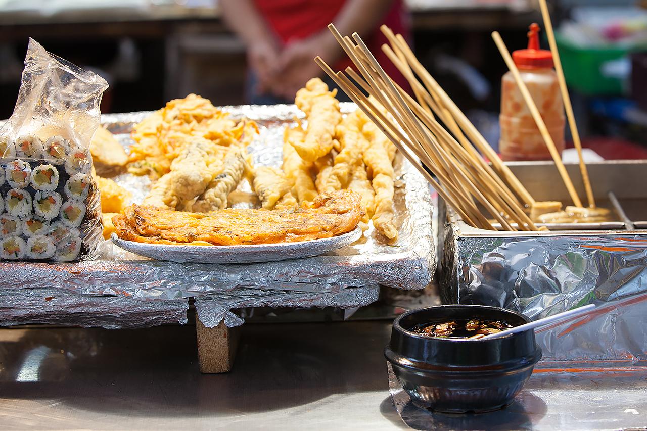 Путешествие по Южной Корее, Сеул: Уличная еда в Сеуле