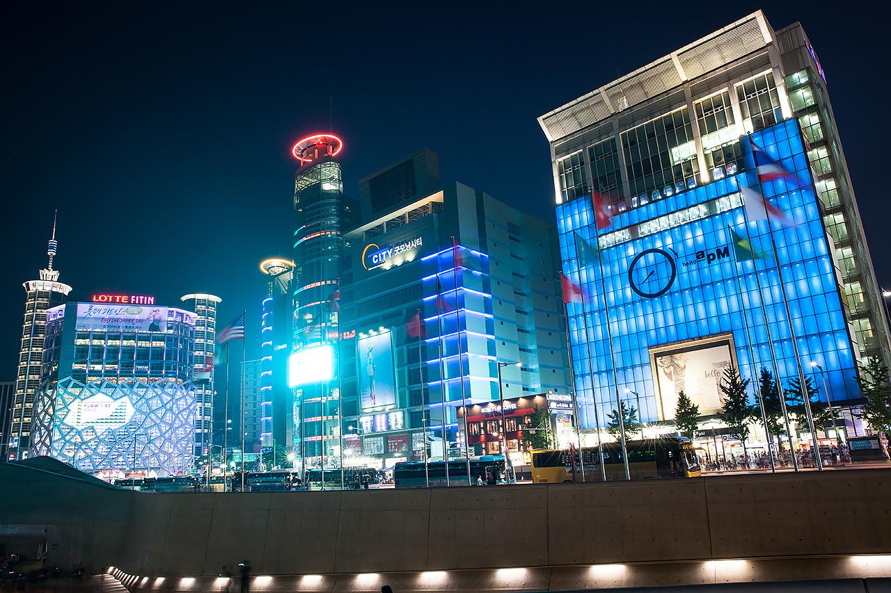 Путешествие по Южной Корее: Ночной Сеул