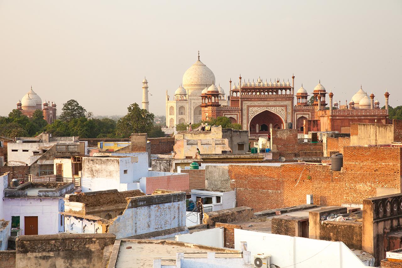 Путешествие по Индии: Вид на Тадж-Махал из Таджганжа, Агра