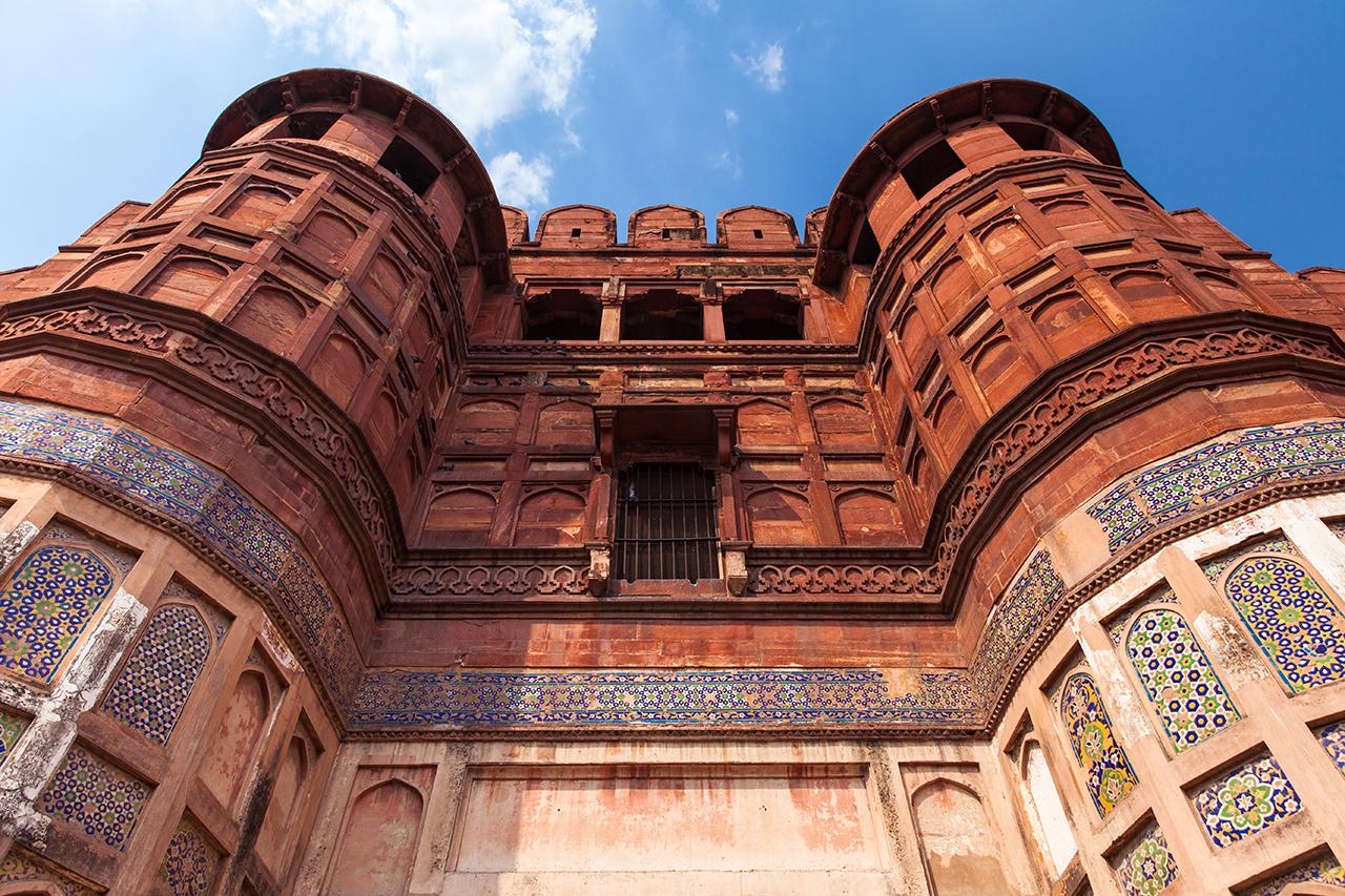 Путешествие по Индии: Стены Красного Форта, Агра