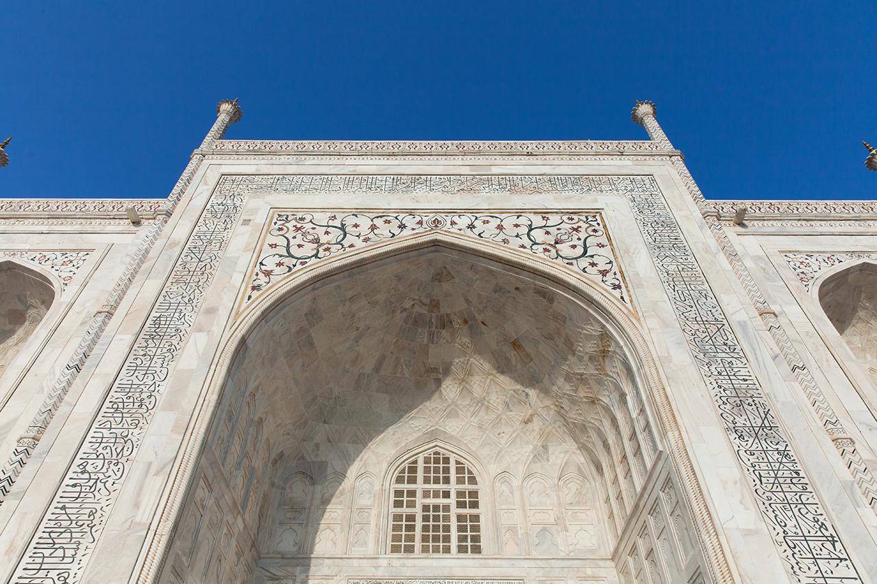 Путешествие по Индии: Украшения на стенах Тадж-Махала, Агра