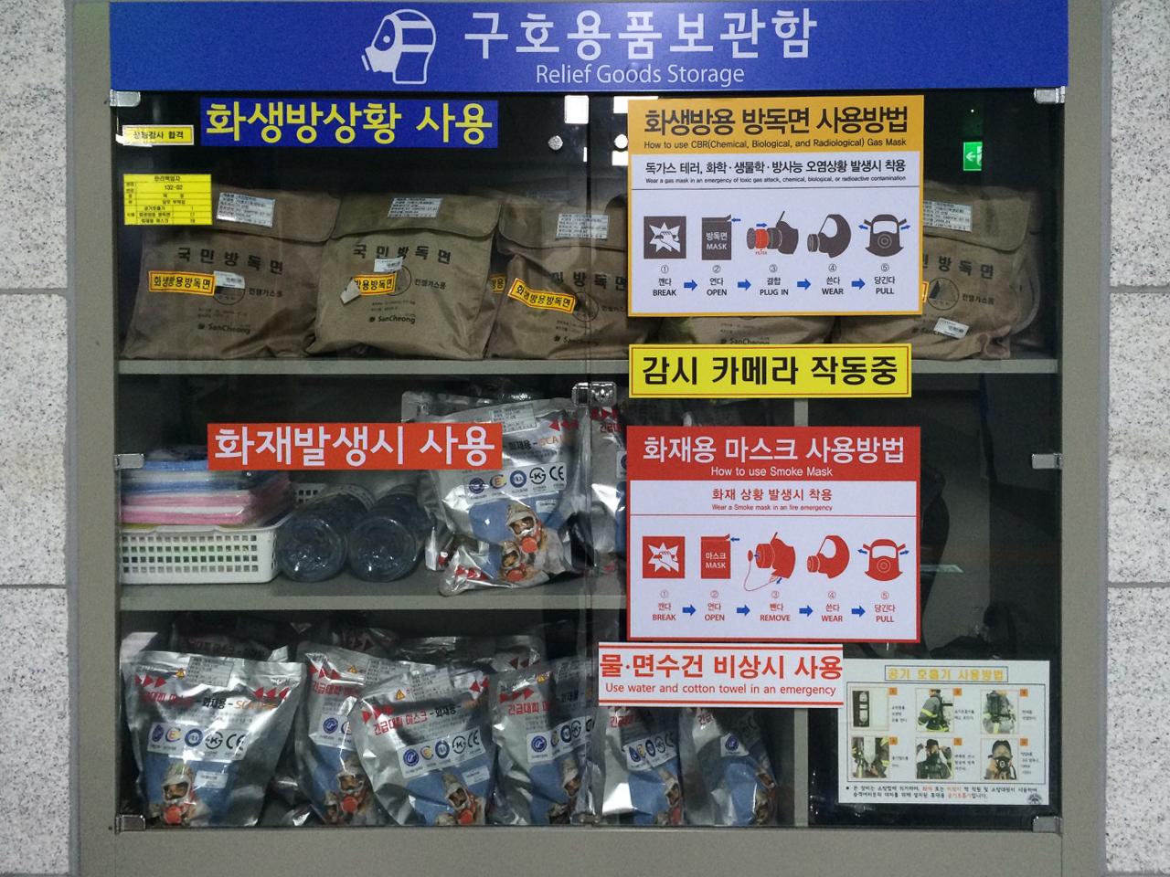 Заметки о Корее: Средства защиты в метро