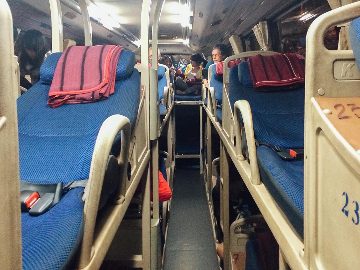 Путешествие по Вьетнаму, Нячанг: спальный автобус из Хойана