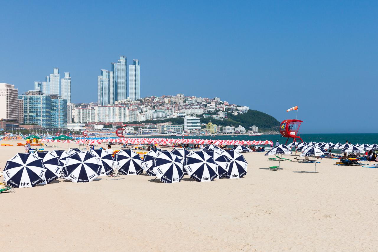 Путешествие по Южной Корее, Пусан: Пляж Хэундэ