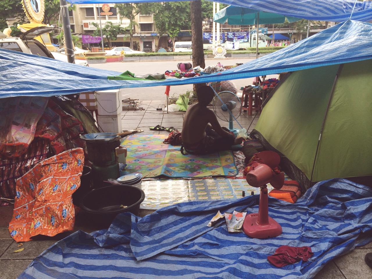 Переворот в Таиланде: Палаточный лагерь антиправительственных сил