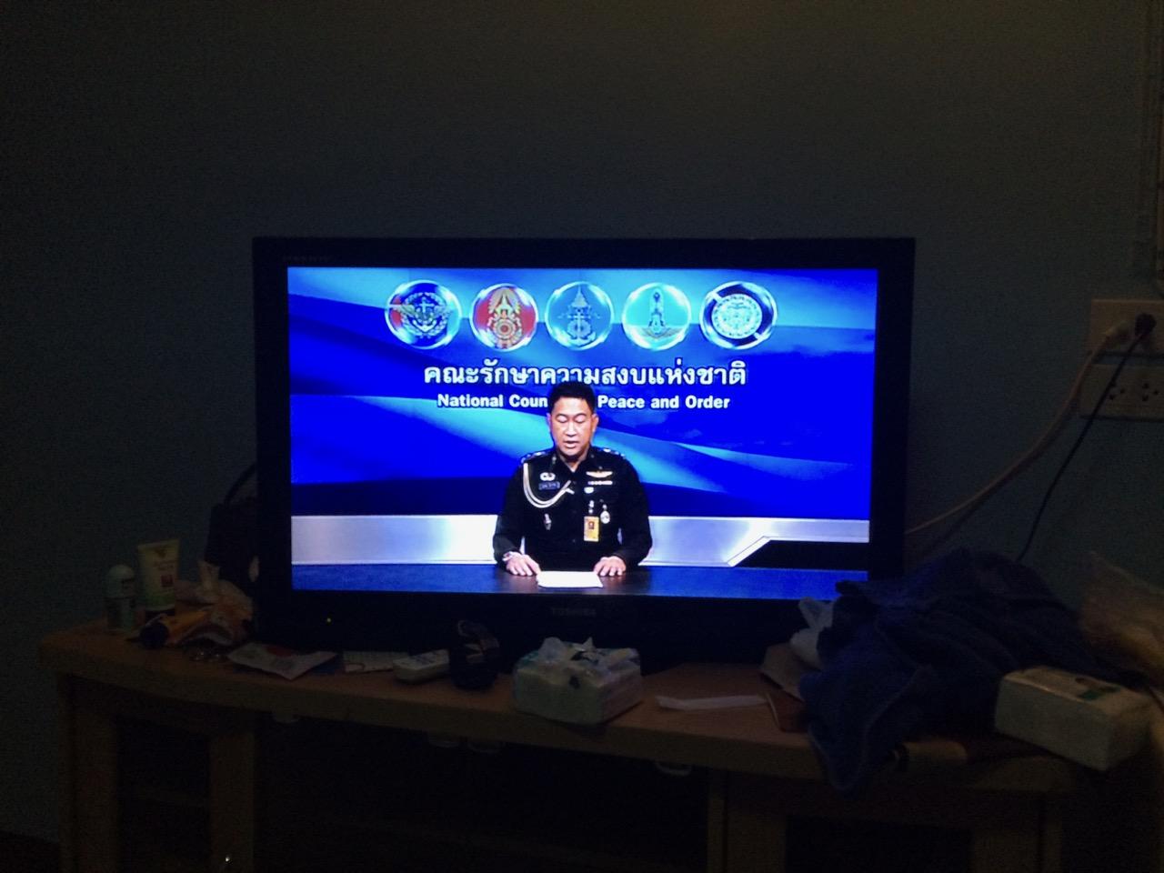 Переворот в Таиланде: По телевидению показывают только сообщения военных