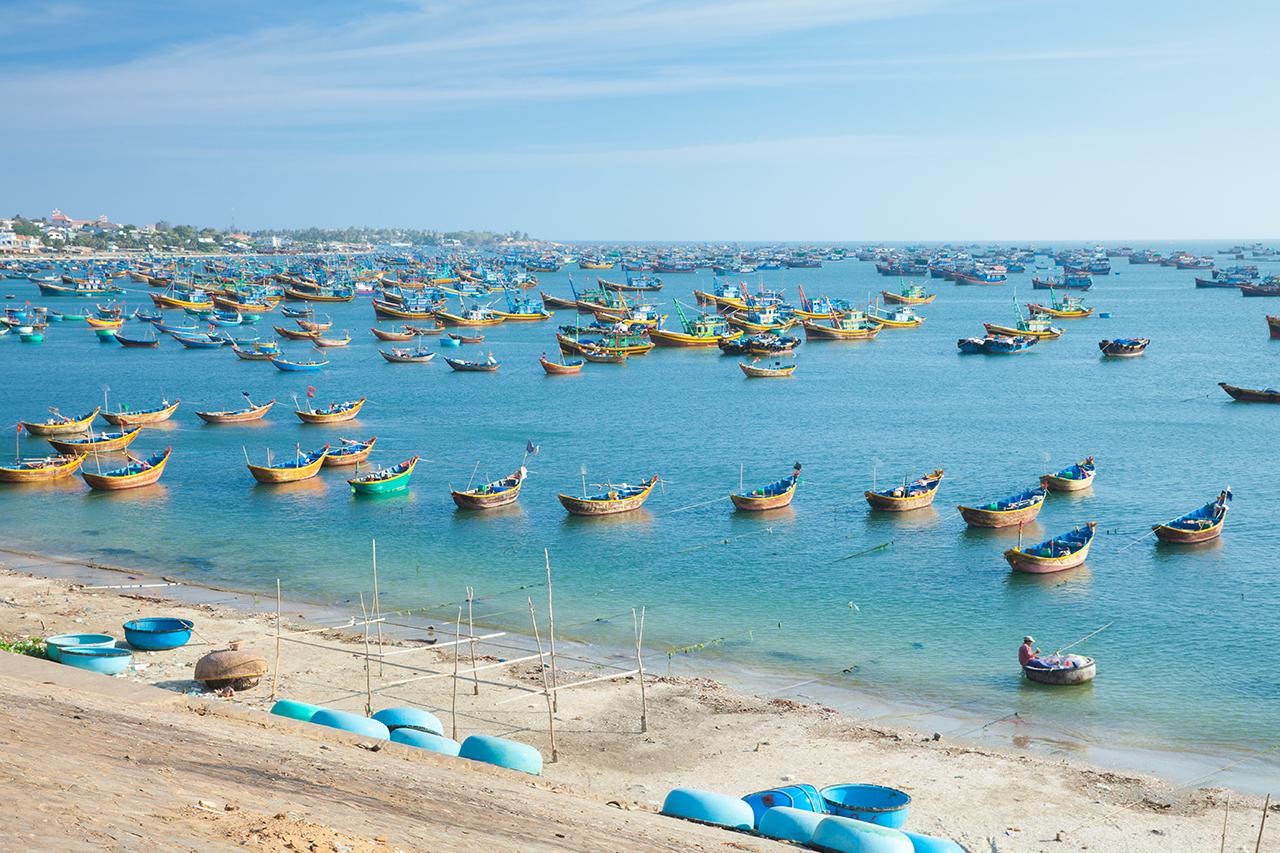 Путешествие по Вьетнаму, Муйне: Рыбацкие судна в гавани