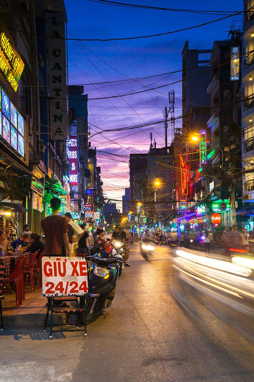 Путешествие по Вьетнаму, Хошимин: Улица Bui Vien