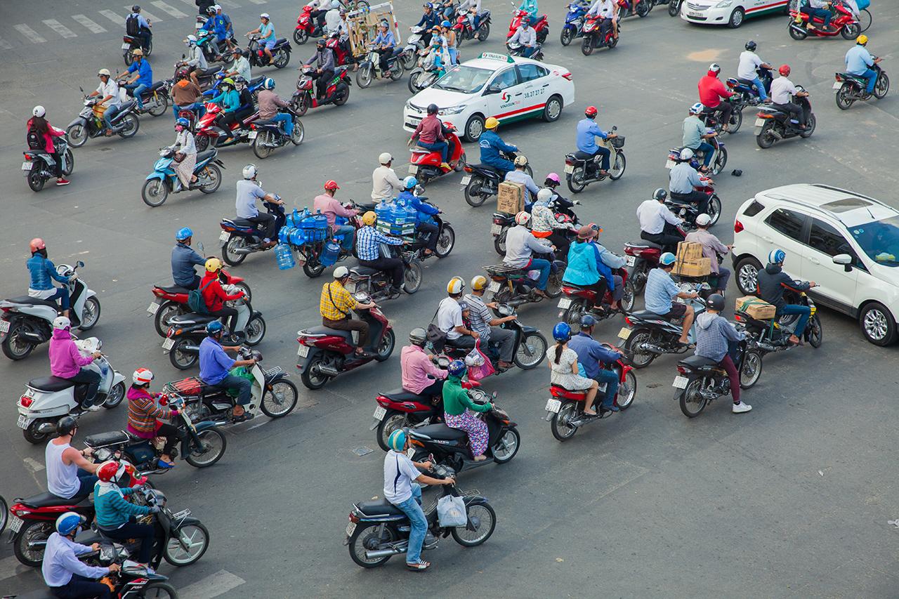 Путешествие по Вьетнаму, Хошимин: Хаотичный трафик на дорогах